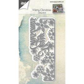 Joy!Crafts Snijstencil Merry christmas met sneeuwvlokken