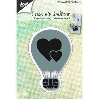 Joy!Crafts Snij-embos-debosstencil - Liefdes luchtballon