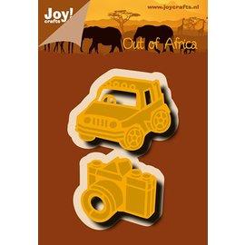 Joy!Crafts Snij-embosstencil - Jeep & camera