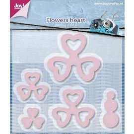 Joy!Crafts Snijstencil - Mery's bloemen hart (5st)