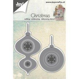 Joy!Crafts Snij-embos-debos stencil - kerstballen (2st)