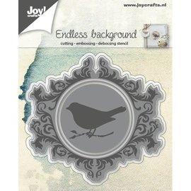 Joy!Crafts Snij-embos-debosstencil - Eindeloos met vogel