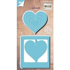 Joy!Crafts Snijstencil (5st)- kaartmodel harten