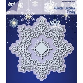 Joy!Crafts Snij- embos stencil - winter wensen doily