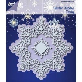 Joy!Crafts Snij- embos stencil - winter wensen doily
