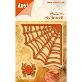 Joy!Crafts Snij embosstencil - spin en spinnenweb (2st)