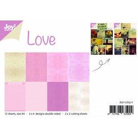 Joy!Crafts Papierset met knipvellen - Liefde