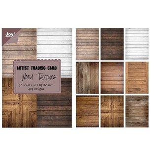 Joy!Crafts Papierblok ATC - Wood Texture