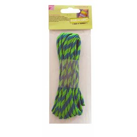 Joy!Crafts Paracord blauw/groen 5 mtr
