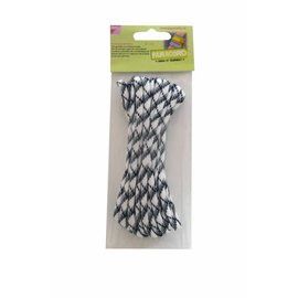 Joy!Crafts Paracord zwart/wit 5 m