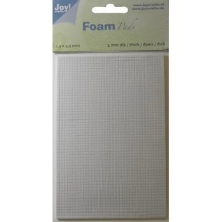 Joy!Crafts Foam Pads 2,0 mm/2,5mm blok WIT