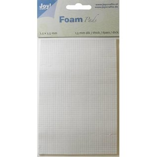 Joy!Crafts Foam Pads 1,5 mm/2,5mm blok WIT