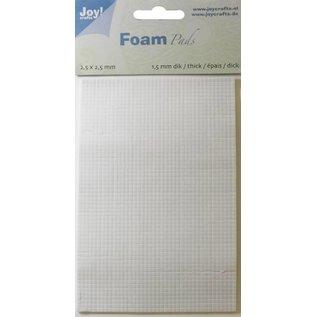 Joy!Crafts Foam Pads 1,5 mm/2,5mm blok WIT