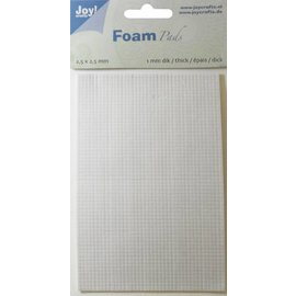 Joy!Crafts Foam Pads 1,0 mm/2,5mm blok WIT