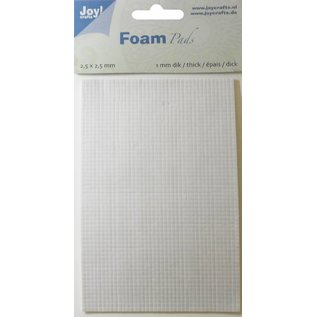 Joy!Crafts Foam Pads 1,0 mm/2,5mm blok WIT