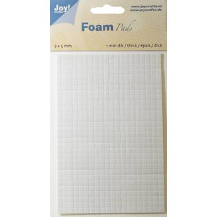 Joy!Crafts Foam Pads 1,0 mm/5mm.blok WIT