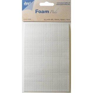 Joy!Crafts Foam Pads 0,5 mm/5mm.blok WIT