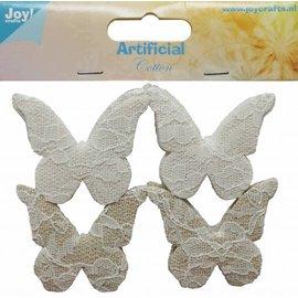 Joy!Crafts Katoenen vlinders met kant