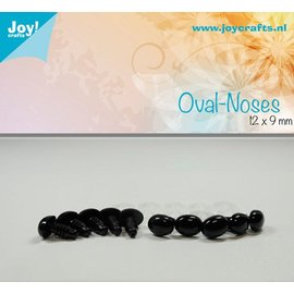 Joy!Crafts Ovale neus - Zwart (9st)