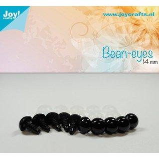 Joy!Crafts Dierenogen - Zwart 14 mm