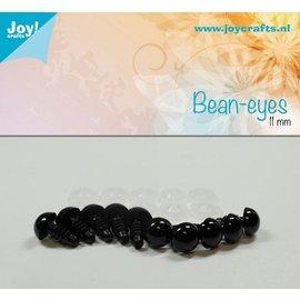 Joy!Crafts Dierenogen - Zwart 11 mm