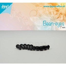 Joy!Crafts Dierenogen - Zwart 7 mm