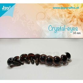 Joy!Crafts Kristal ogen - Bruin 14 mm