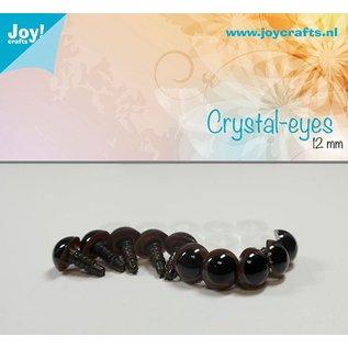 Joy!Crafts Kristal ogen - Bruin 12 mm