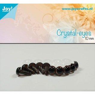 Joy!Crafts Kristal ogen - Bruin 10 mm