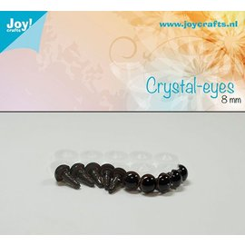 Joy!Crafts Kristal ogen - Bruin 8 mm