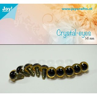 Joy!Crafts Kristal ogen - Beige 14 mm