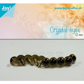 Joy!Crafts Kristal ogen - Beige 12 mm