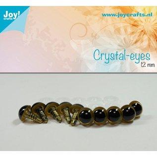 Joy!Crafts Kristal ogen - Beige 12 mm