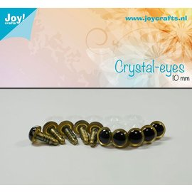 Joy!Crafts Kristal ogen - Beige 10 mm