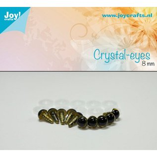 Joy!Crafts Kristal ogen - Beige 8 mm