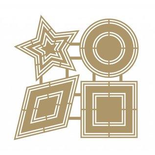 Joy!Crafts Scrap Polybesa Scrapbookstencil - Basic shapes 2
