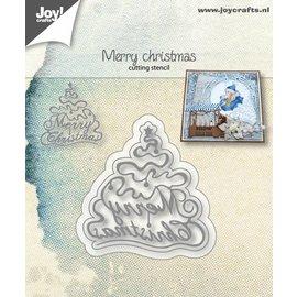 Joy!Crafts Snijstencil - Kerstboom Merry Christmas