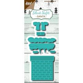 Joy!Crafts Snij-embosstencil - Silent Night - Kerstman in schoorsteen
