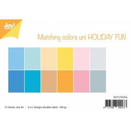 Joy!Crafts Papierset - Matching Colors Uni - Holiday Fun