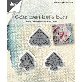Joy!Crafts Snijstencils - Endless corner - Hart en bloemen