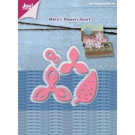 Joy!Crafts Snij-embosstencils - Mery's Flowers heart  (4)