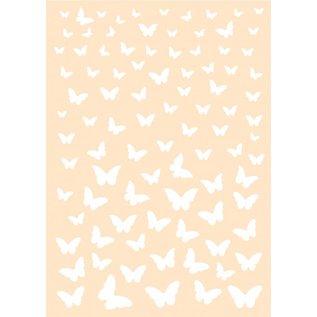 Polybesa Achtergrondstencil - Vrolijke Vlinders