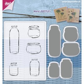 Joy!Crafts Stencils & Stamps -  Mery's  Bottles