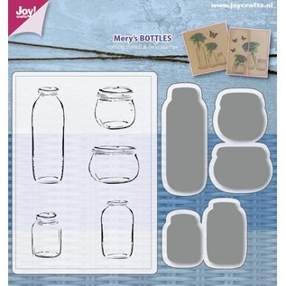 Joy!Crafts Stencils & Stamps -  Mery's  Bottles