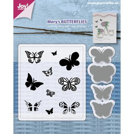 Joy!Crafts Stencils & Stamps - Mery's Butterflies