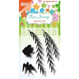Joy!Crafts Clearstamp - LH - Branches with frog and swallow