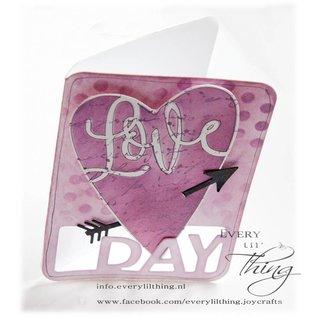 Joy!Crafts Scr@p stencil - Liefde