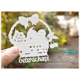 Joy!Crafts 3D-Snij-embos-debos stencil - Fruitmand