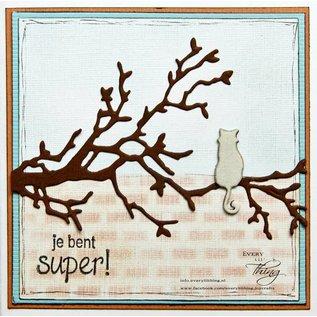 Joy!Crafts Snijstencil - Kat op tak
