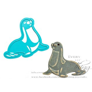 Joy!Crafts Snij-embosstencil - Zeehond, Dolfijn, Kwal